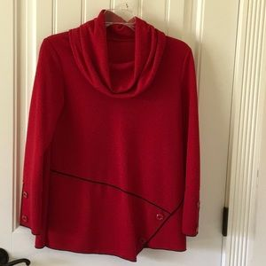 Tops - Red cowl neck top